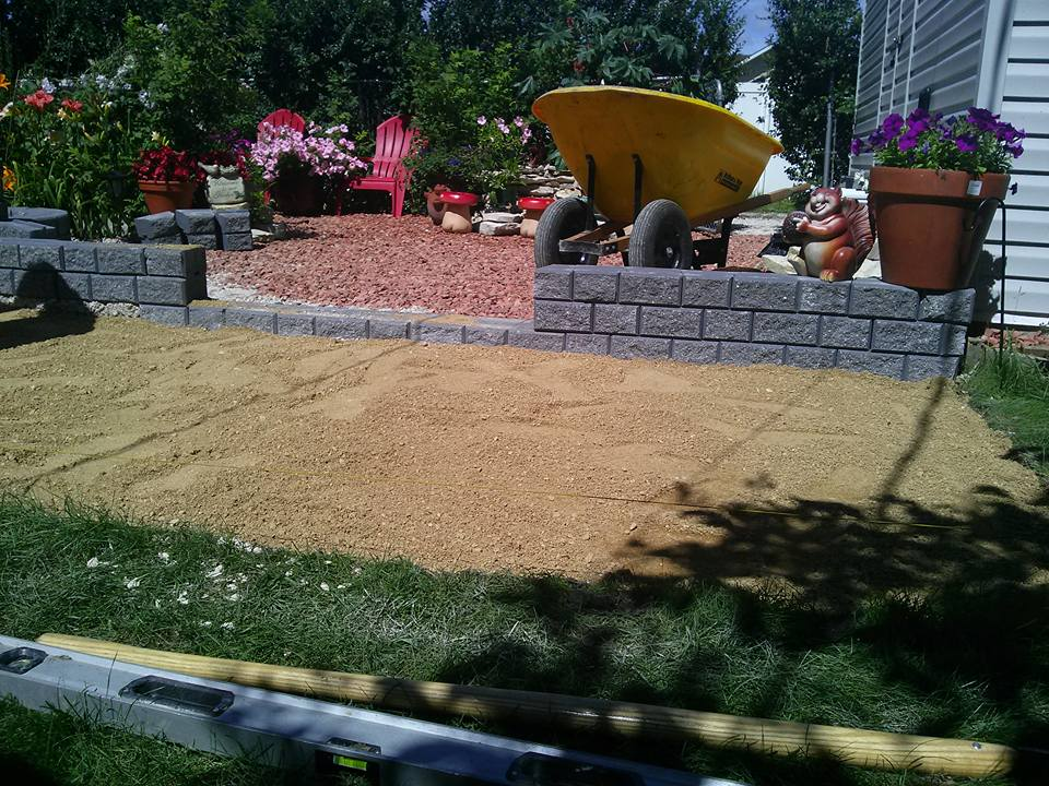 Back yard update-construction dauphin-tri square contruction