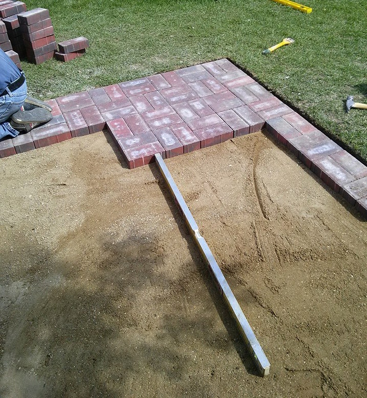 Backyard brick work-dauphin manitoba